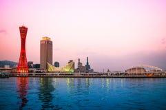 Port of Kobe, Kobe Tower, Kobe Skyline royalty free stock image