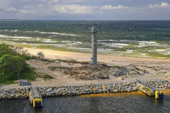 Port of Kolobrzeg, Poland, in the foreground radar tower, Landscape Stock Photography