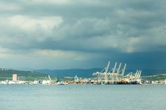 Port of Koper, Slovenia, Europe. Royalty Free Stock Photos