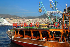 In the Port of Kusadasi Royalty Free Stock Photos