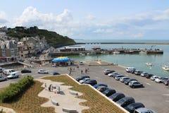 Port l'en Bessin Huppain, Normandia in Francia Fotografia Stock Libera da Diritti