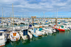 The port of l'Herbaudière, France Stock Image