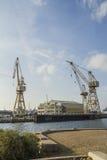 The port of La Ciotat. Port facilities in the port of La Ciotat Stock Images