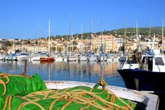 Port of La Ciotat in France royalty free stock photos