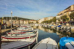 The port of La Ciotat. And the old town Royalty Free Stock Photography