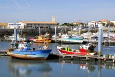 Port of La Cotiniere in France. Region Charente-Poitou royalty free stock image