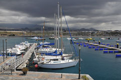 Port of La Galletas at Tenerife Royalty Free Stock Photos