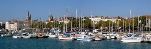 Port of La Rochelle in France. Panoramic port of La Rochelle in France Royalty Free Stock Images