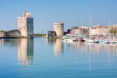 The port of La Rochelle. View on the port of La Rochelle in France Stock Image