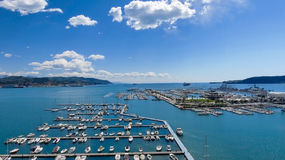 Port of La Spezia, Italy.  royalty free stock images