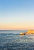 The port of La Valletta, Malta. The entrance to the harbor of La Valletta. The beautiful and historic capital of Malta Royalty Free Stock Photos
