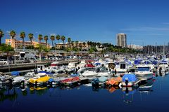 Port of Las Palmas. With small boats in north Gran Canaria, Canary Islands royalty free stock photography