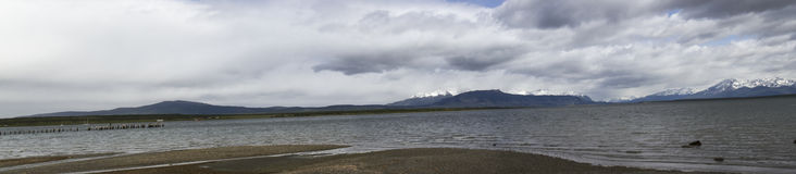 Port of Last Hope, Puerto Natales, Chile Stock Photo