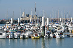 Port of Le Havre in France Stock Image