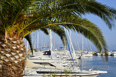 Port of Le Lavandou in France Stock Image