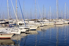 Port of Le Lavandou in France Royalty Free Stock Image