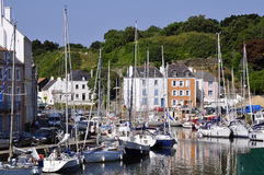 Port of Le Palais at Belle Ile in France Royalty Free Stock Photography