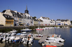 Port of Le Palais at Belle Ile in France Stock Photos