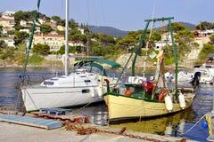 Port of Le Pradet in France Stock Image