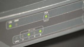 Port LED sur un routeur de réseau clips vidéos