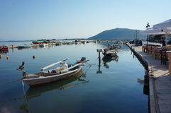 Port in Lefkas Royalty Free Stock Images
