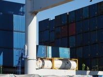 Matosinhos Leixões container terminal. Royalty Free Stock Images