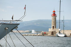 Port light in Saint Tropez Stock Photography