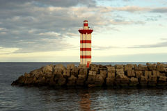 Port lighthouse Royalty Free Stock Photography