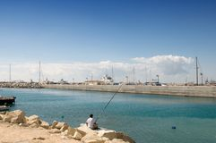 Port in Limassol -  Cyprus Royalty Free Stock Photography