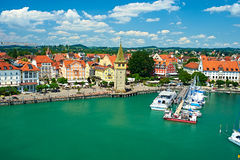 Port of Lindau, Lake Constance Stock Image