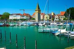 Port of Lindau, Lake Constance Royalty Free Stock Photos