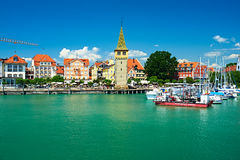Port of Lindau, Lake Constance Stock Photos