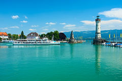 Port of Lindau, Lake Constance Stock Images