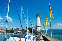 Port of Lindau, Lake Constance Stock Photography