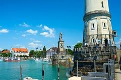 Port of Lindau, Lake Constance Royalty Free Stock Image