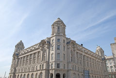 Port of Liverpool Building. The Impressive Edwardian Era Offices of The Port of Liverpool England Royalty Free Stock Photos