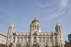 Port of Liverpool Building. The Historic Port of Liverpool Building with its Domes and Ornate Architecture Stock Images
