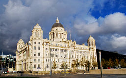 The Port of Liverpool building. Image of the Port of Liverpool building at the UNESCO World Heritage Site in Liverpool, United Kingdom Stock Photos