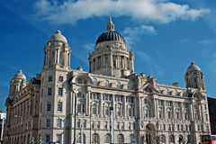 Port of Liverpool building. 1 of Liverpool's World Heritage status waterfront buildings Royalty Free Stock Photo