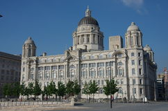 The port of liverpool building. The port of liverpool biulding Royalty Free Stock Images
