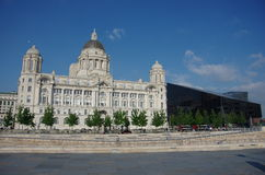 Port of liverpool building. The port of liverpool building Royalty Free Stock Image