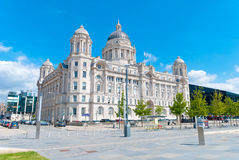 Port of Liverpool Building. In downtown Liverpool, England, UK Royalty Free Stock Photos