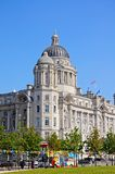 Port of Liverpool building. Port of Liverpool Building formerly known as the Mersey Docks and Harbour Board Office at Pier Head, Liverpool, Merseyside, England Stock Image