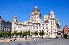 Port of Liverpool building. Royalty Free Stock Photos