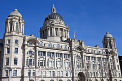 Port of Liverpool Building. The historic Port of Liverpool Building situated on the Pier Head in Liverpool Royalty Free Stock Photos