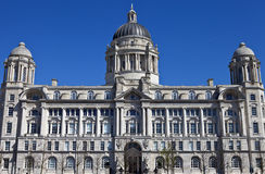 Port of Liverpool Building. The historic Port of Liverpool Building situated on the Pier Head in Liverpool Royalty Free Stock Images