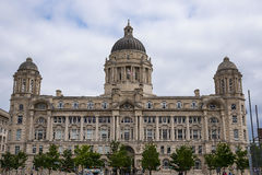 Port of Liverpool Building  in Liverpool England. Liverpool is a maritime city in northwest England, where the River Mersey meets the Irish Sea. A key trade and Stock Image