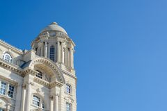 The Port of Liverpool building, Liverpool. The port of Liverpool building, Space for free text Royalty Free Stock Images
