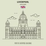 Port of Liverpool Building in Liverpool, UK. Landmark icon royalty free stock photos