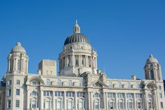 The Port of Liverpool building. Part of the three graces,  Merseyside, Liverpool, UK Stock Photo